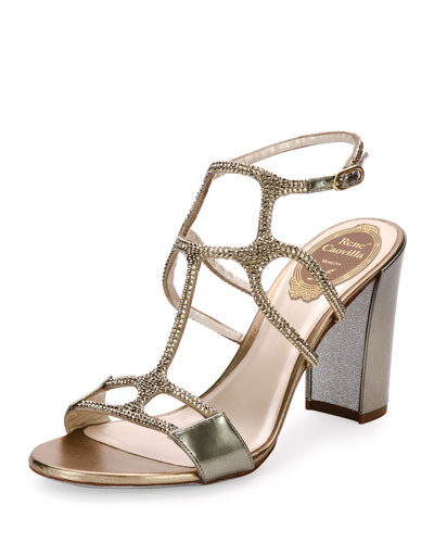 Crystal Caged 90mm Sandal