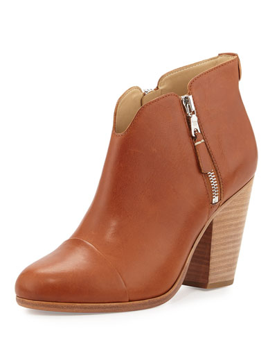 Margot Side-Zip Ankle Boot, Tan