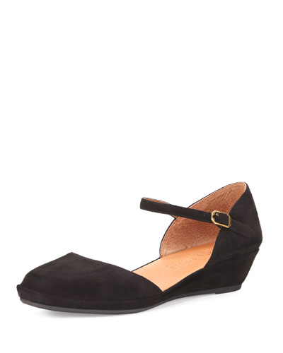 Noa Star Demi-Wedge Ballerina Flat, Black