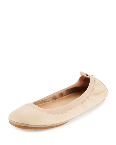 Samara 2.0 Packable Ballerina Flat, Flesh