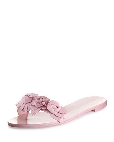 Lilico Floral Flat Slide Sandal, Pink