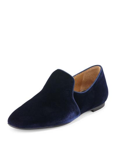 Alys Velvet Loafer Flat