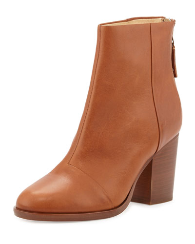 Ashby Leather Ankle Boot, Tan