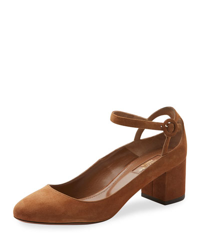 Sweet Thing Suede 50mm Pump, Tan