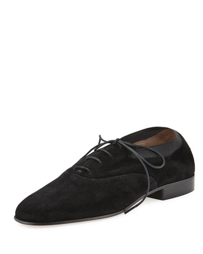 Bombe Suede Oxford, Black