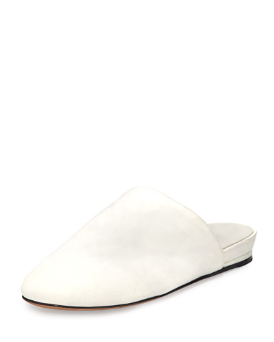 Oren 2 Leather Mule Flat, White
