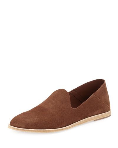 Yoshi Suede Slip-On Loafer, Chocolate