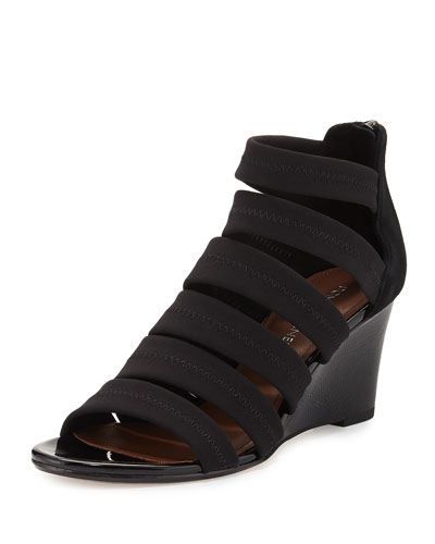 Jones Strappy Wedge Sandal, Black
