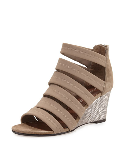 Jones Strappy Wedge Sandal, Beige
