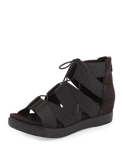 Link Lace-Up Sneaker Sandal, Black