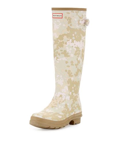 Original Tall Flectarn Camouflage Rain Boot, Pale Sand