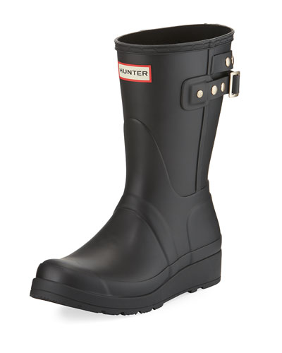 Original Short Wedge Rain Boot, Black