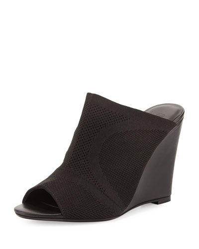 Anita Stretch Wedge Mule, Black