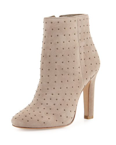 Hachiro Mini-Stud Ankle Boot, Gray
