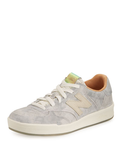 300 Acid Wash Low-Top Sneaker, Gray