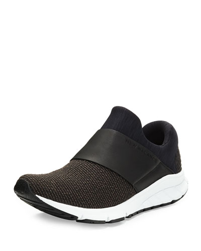 Vazee Rush Knit Slip-On Sneaker, Black