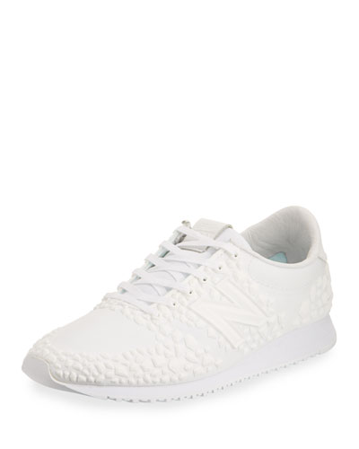420 Graphic Low-Top Sneaker, White