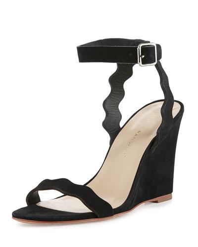 Piper Curvy Wedge Sandal, Black