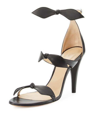 Naka Bow 100mm Sandal, Black