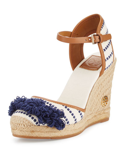 Shaw Striped Espadrille Wedge Pump