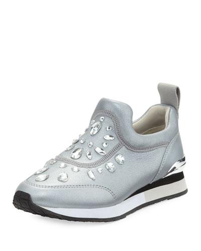 Laney Embellished Slip-On Sneaker, Silver