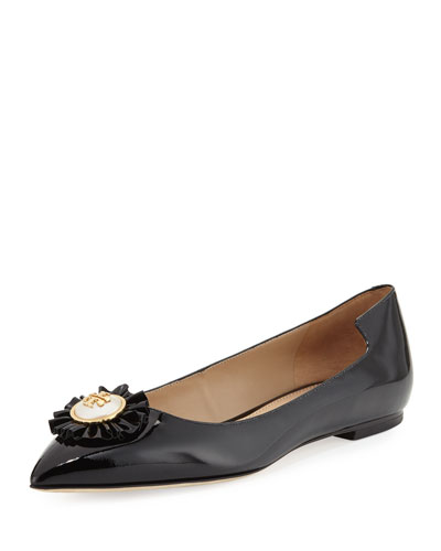 Melody Patent Leather Flat, Black