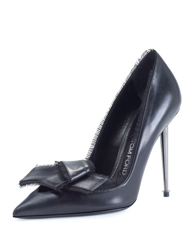 Fringe Bow 105mm Pump, Black