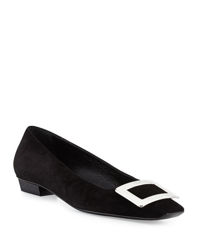 Belle Vivier Suede Pump, Black