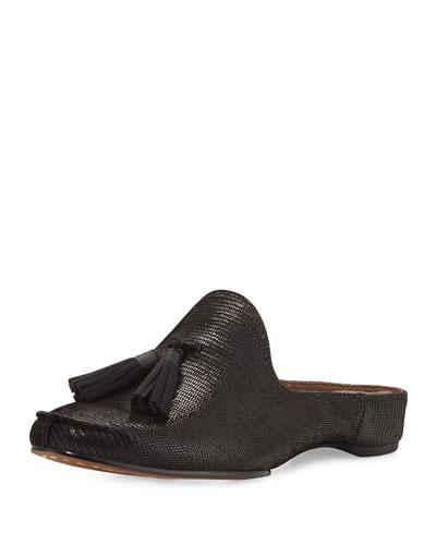 Bayez Tassel Slip-On Mule, Black