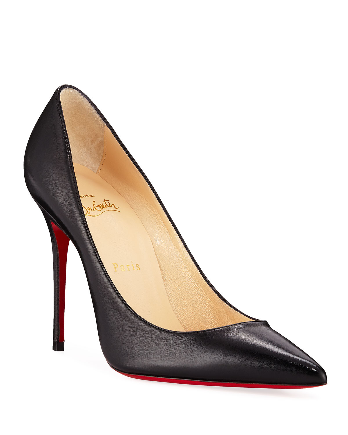Kate Red Sole Pumps, Black