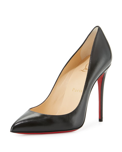 Pigalle Follies Pointed-Toe Red Sole Pump, Black