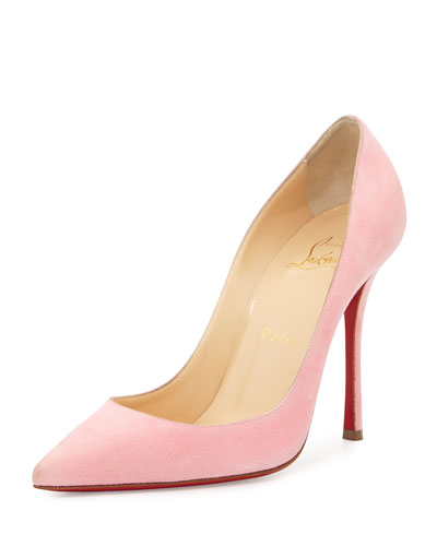 Decoltish Suede 100mm Red Sole Pump