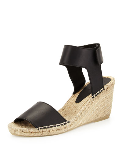 Sophie Leather Espadrille Wedge