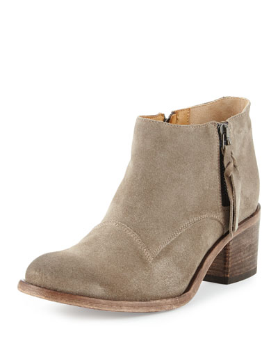 Capricia Suede Ankle Boot, Sandy