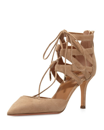 Belgravia Lattice Suede Sandal