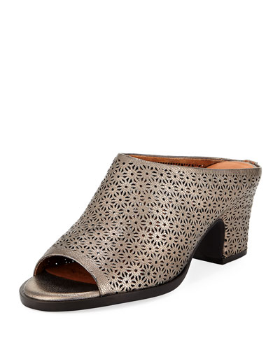 Post Laser-Cut Low-Heel Mule