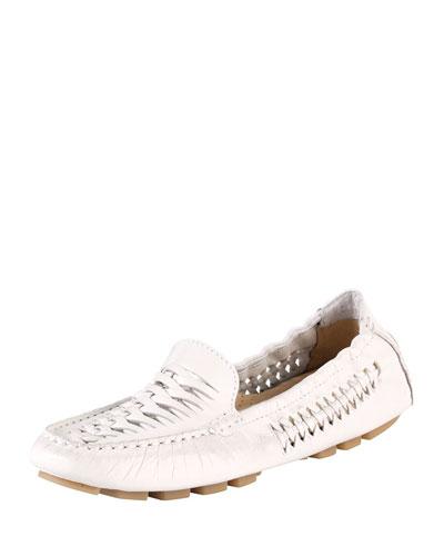 Sadie Huarache Leather Loafer, Carrera