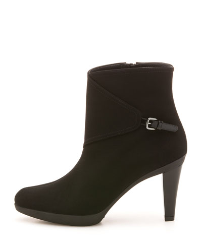 Gorgeous Gore-Tex Buckled-Side Bootie, Black