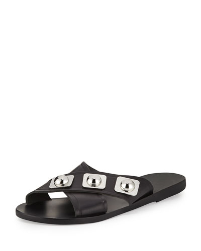 Thais Studded Crisscross Sandal