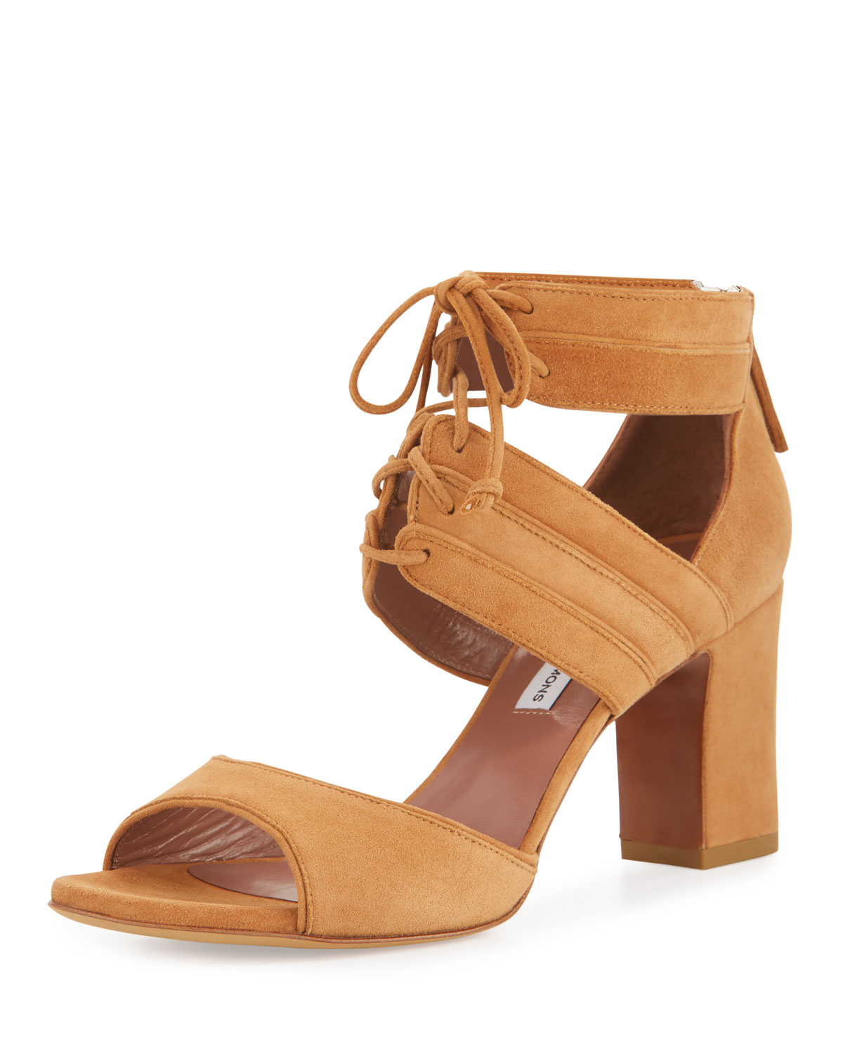 Reed Suede Lace-Up Sandal, Sand