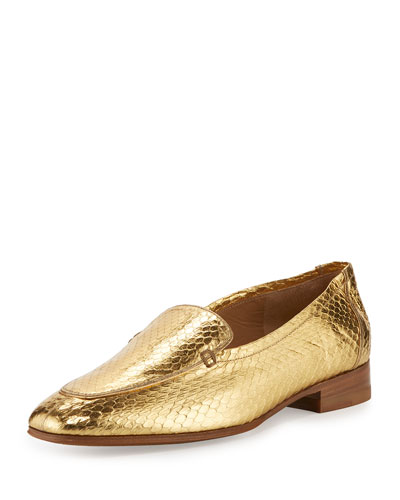 Alin Watersnake Loafer, Gold