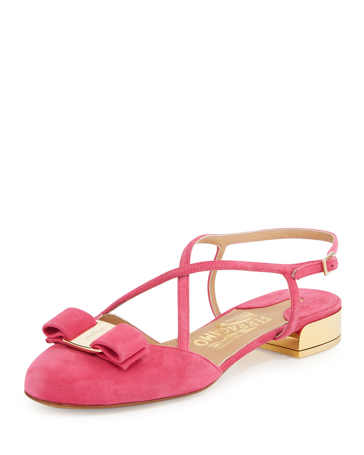 Strappy Suede Sandal, Framboise