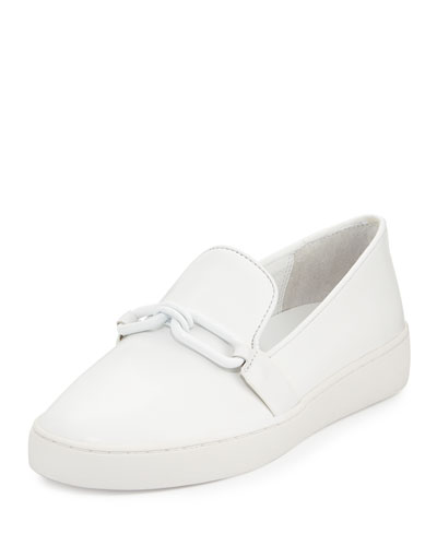 Lennox Leather Link Sneaker, White