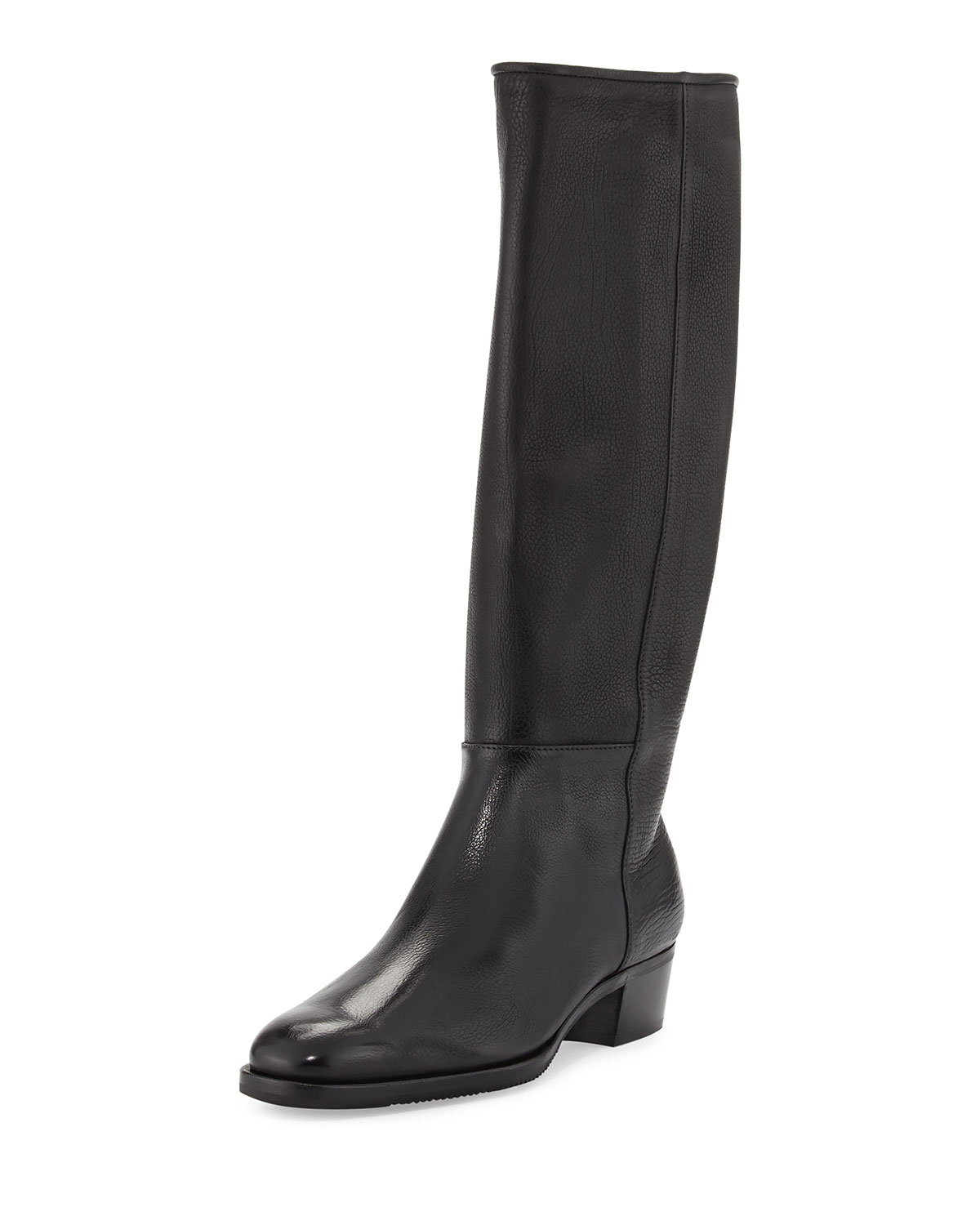 Leather 35mm Riding Boot, Black