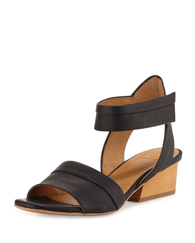 Outside Leather City Sandal, Black