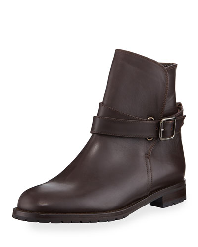 Sulgamba Leather Ankle Boot, Brown