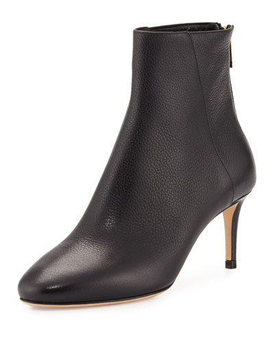 Duke Leather 65mm Ankle Boot, Black