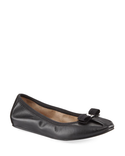 My Joy Leather Ballerina Flat, Nero