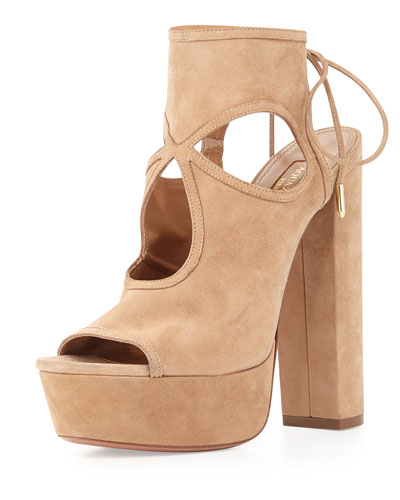 Sexy Thing Platform Sandal, Biscotti