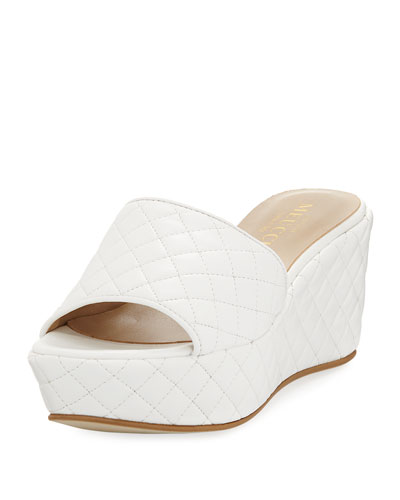 Tahnee Quilted Wedge Slide Sandal